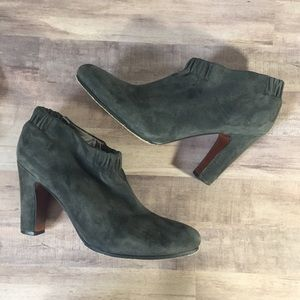Sam Edelman Gray Leather Ankle Booties Size 9